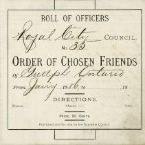 Image of Roll of Officers, Royal City Council No.35, 1886 -1890