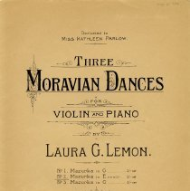 "Image of .2 - ""Three Moravian Dances"" music for violin and piano"