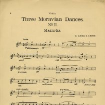 "Image of .4 - ""Three Moravian Dances"" for Violin, p.2"