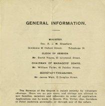 Image of General Information, back cover