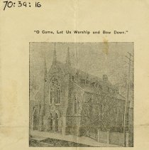 Image of Chalmers Church Program, February 1909
