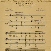 "Image of Sheet Music, ""Mighty Dominion"" by Laura Lemon"