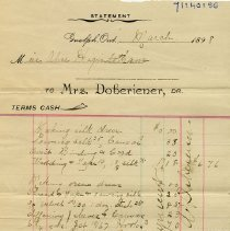 Image of 1898 Statement to Miss A. Higinbotham