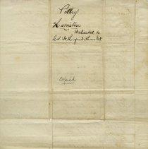 Image of .1 - Back - Dedicated to Col. C.W. Higinbotham, M.P.