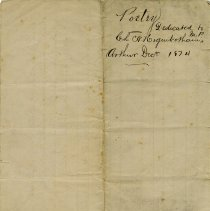 Image of .2 - Outside, Dedicated to Col. C.W. Higinbotham, Dec. 1874