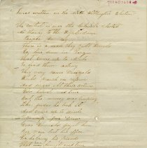 """Image of .1 - Poem, """"Lines written on the North Wellington Election"""""""