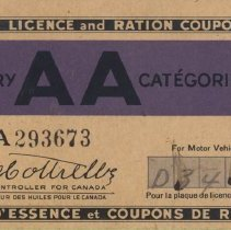 Image of Gasoline Ration Book, Front