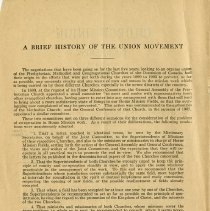 Image of A Brief History of the Union Movement
