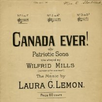 """Image of Sheet Music, """"Canada Ever! Patriotic Song"""""""