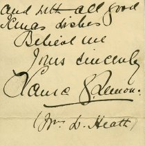 Image of Letter, back page