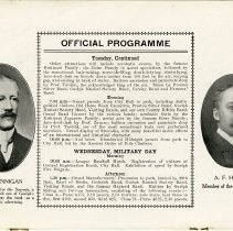 Image of Official Programme, Tuesday and Wednesday, p.12