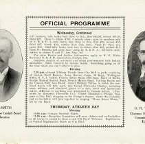 Image of Official Programme, Wednesday and Thursday, p.18