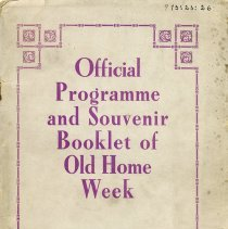 Image of Official Programme and Souvenir Booklet of Old Home Week, 1908