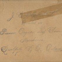 Image of Advertising Card, J.C. McLean, Dealer in Sewing Machines
