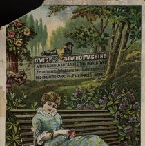 Image of Advertising Card for Davis Sewing Machine
