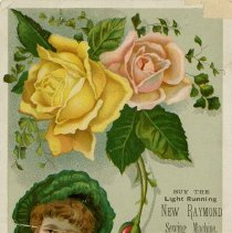 Image of Advertising Card, Raymond Sewing Machine Co.
