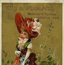 Image of Advertising Card, Guy & Husband, Merchant Tailors