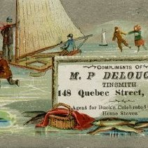 Image of Advertising Card, M. P. Delouche, Tinsmith