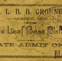 Image of Maple Leaf Base Ball Club Season Pass, 1886