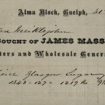 Image of Statement issued by James Massie & Co., 1870