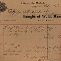 Image of Invoice issued by W. H. Marcon, Seedsman, 1874