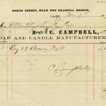 Image of Receipt, C. Campbell, Soap & Candle Manufacturer, 1870
