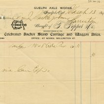 Image of Receipt from Guelph Axle Works, 1894