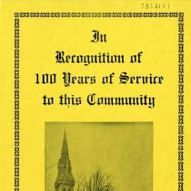 Image of St. George's Anglican Church, 100 Years of Service