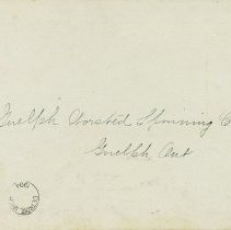 Image of Addressed to Guelph Worsted Spinning Co., 1904