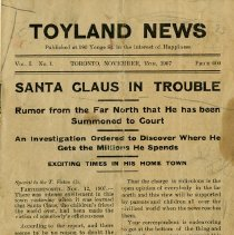 Image of Toyland News, Toronto, November 15, 1907