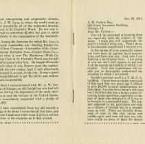 Image of Letter to Mr. A.W. Cutten, 1911, p.9