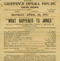 "Image of Program, ""What Happened to Jones,"" April 30, 1917"