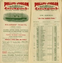 Image of Steamship Tickets; Time Schedule, pp.15-16