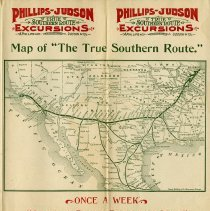 """Image of Map of """"The True Southern Route,"""" pp.7-8"""