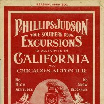 Image of Phillips-Judson True Southern Route Excursions to California, 1899-1900