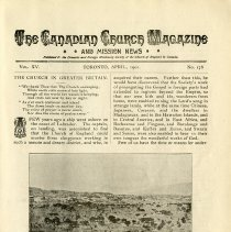 Image of The Canadian Church Magazine & Mission News, April 1901
