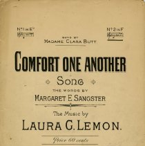 "Image of Sheet Music, ""Comfort One Another"""
