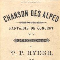 Image of Chanson des Alpes cover