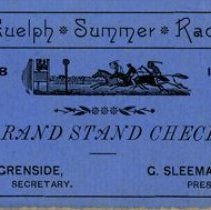 Image of Guelph Summer Races Grand Stand Check, 1888