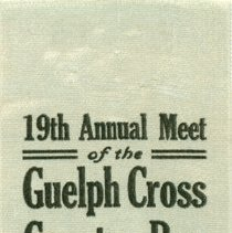 Image of 19th Annual Meet of the GCCR and RR Association 1913: Time-Keeper