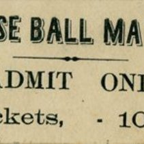 Image of Admission Ticket to a Base Ball Game