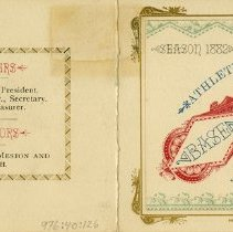 Image of Front and Back Covers ot Membership Ticket, 1882