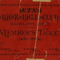 Image of Aetna Base Ball Club Membership Ticket, 1891 Season