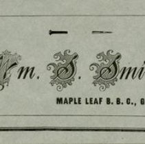Image of Maple Leaf Baseball Club Business Card for Wm. S. Smith