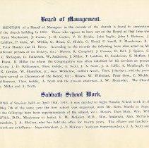 Image of Board of Management; Sabbath School Work, p.13
