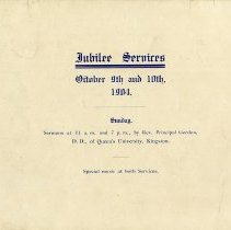 Image of Jubilee Services, October 9th and 10th, 1904