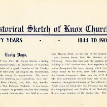 Image of Historical Sketch of Knox Church, p.3