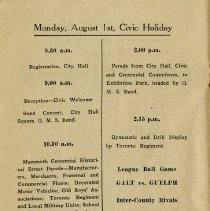 Image of Monday August 1st, Civic Holiday, p.2