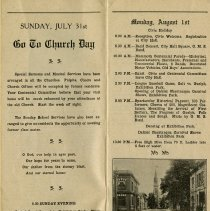 Image of Go to Church Day, Sunday July 31st, 1927
