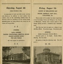 Image of School Children's Day & County of Wellington Day, Aug. 4th to 5th